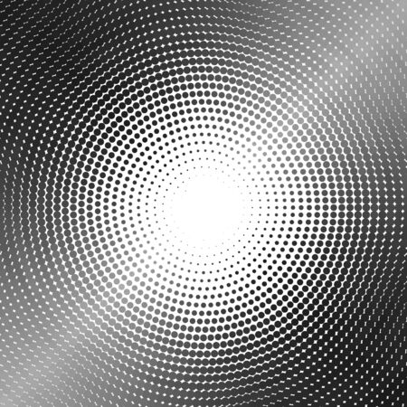 Silver circle of halftone