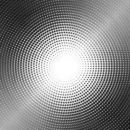 Silver circle of halftone