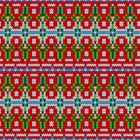 Color knitted Christmas seamless pattern