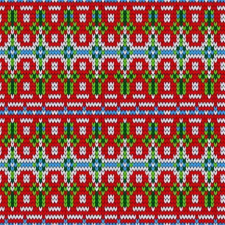 Farbe gestrickte Weihnachtsnahtloses Muster Standard-Bild - 33103408