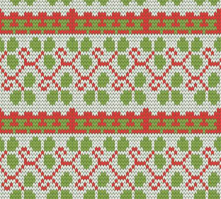 sweater: color knitted Christmas seamless pattern