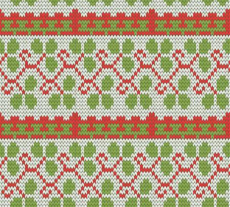 sueter: el color de punto Navidad sin patrón Vectores