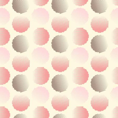 vector fabric: Vector fabric circles abstract seamless pattern