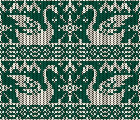 knitted background: Christmas seamless knitted background.  Illustration