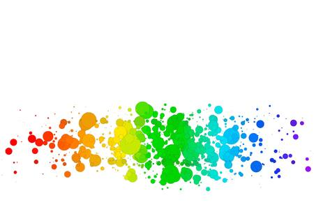 EPS10 Colorful Vector Background, colored circles on a white background Vector