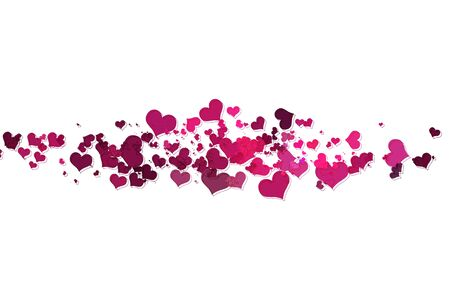 Pink hearts with white background Illustration