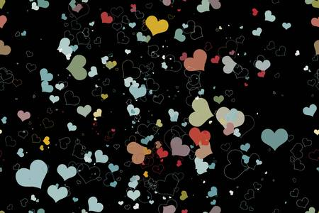 pink wall paper: beautiful seamless pattern with hearts Illustration