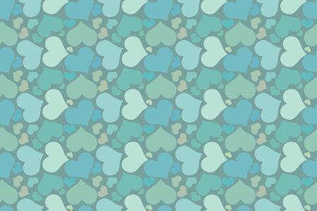 clots: beautiful seamless pattern with hearts Illustration