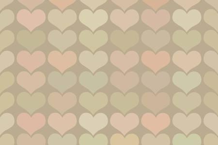 Seamless vintage heart pattern background. seamless pattern of hearts in vintage style