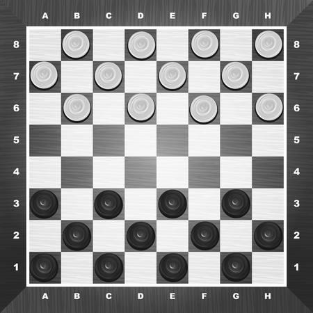 白い背景の上のチェッカー ゲーム ベクトル
