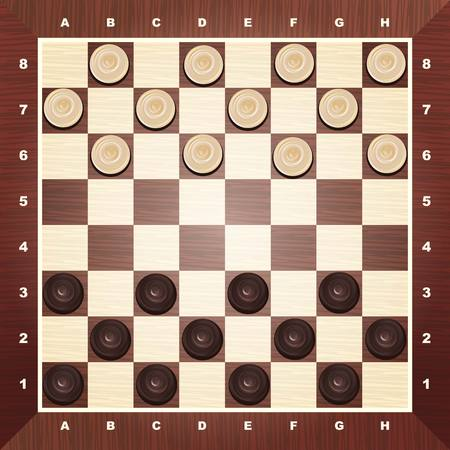 Checkers game vector on white background Vector