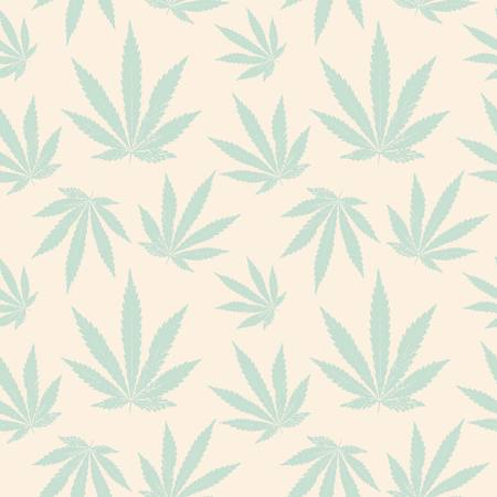 vector seamless pattern of cannabis leaf Vector