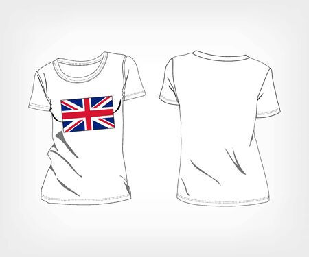 undress: T-shirt with flag of UK. vector illustration Illustration
