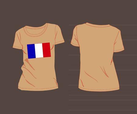 France flag shirt  football soccer ball. t-shirt with the flag of France Vector