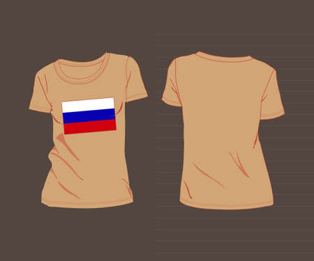 forage: RUSSIA Sports Uniform. t-shirt with the flag of Russia
