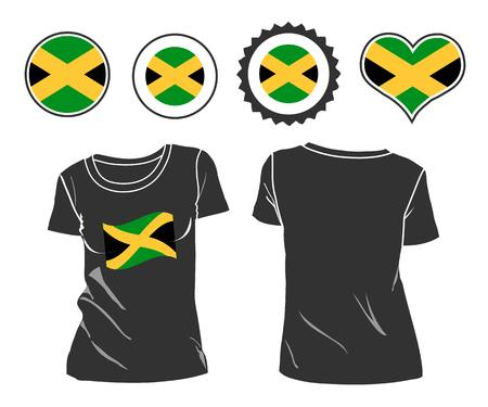 jamaican: Jamaican T-Shirt. t-shirt with the flag of Jamaica