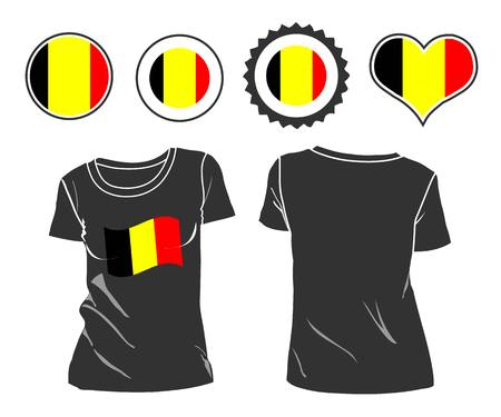 open shirt: An belgian businessman rips open his shirt and shows how patriotic he is by revealing his countries flag beneath printed on a t-shirt