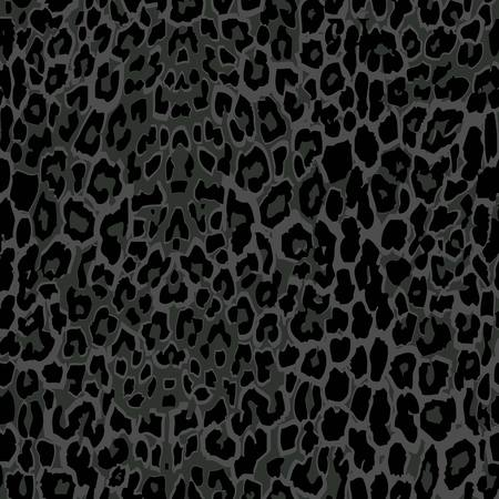 seamless black leopard print. 10 eps. leopard fabric texture Illustration