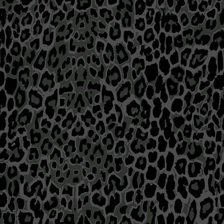 seamless black leopard print. 10 eps. leopard fabric texture Vettoriali