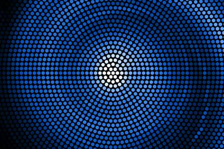 Illustration of Spiral Galaxy. Vector. abstract blue spiral