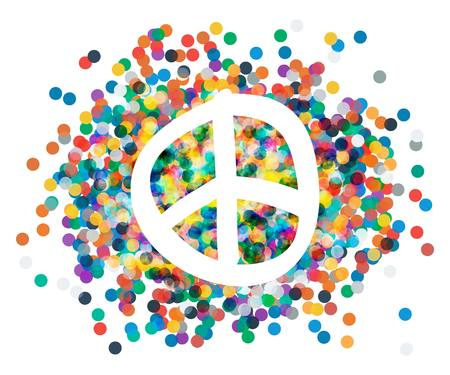 pacifism: Peace sign. Beautiful symbol of peace. sign pacifism