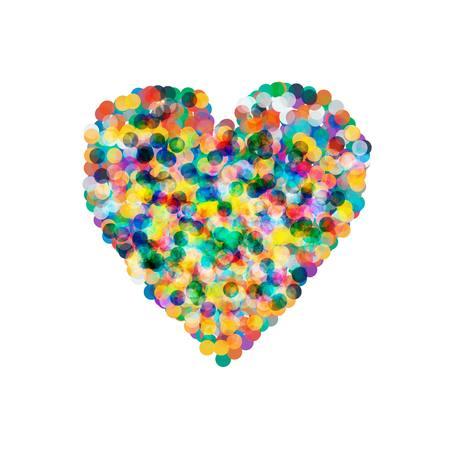 party down: Vector heart shaped confetti falling down, heart confetti Illustration