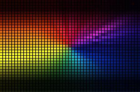 electric grid: color geometric flash.  vector illustration