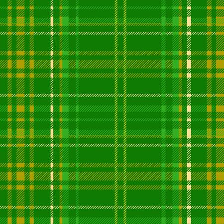 green tartan fabric texture diagonal pattern seamless vector illustration Vector