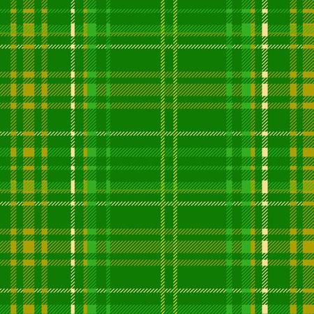 green tartan fabric texture diagonal pattern seamless vector illustration Vector