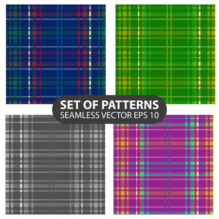 fab: set of 4 vector abstract seamless patterns. Illustration