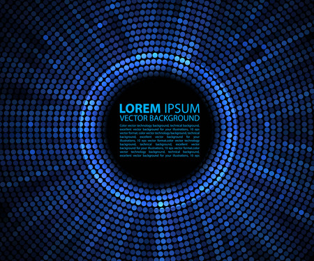 black and blue: Abstract background. blue abstract banner halftone circle
