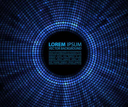 abstrakte muster: Zusammenfassung Hintergrund. blue abstract Banner Halbton Kreis Illustration
