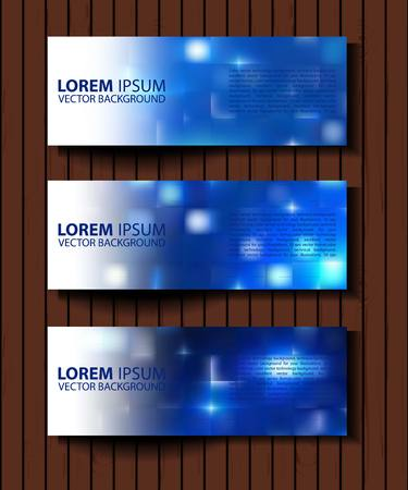 textural: Vector textural banners in grunge style. Eps 10. set of blue vector rectangular banners