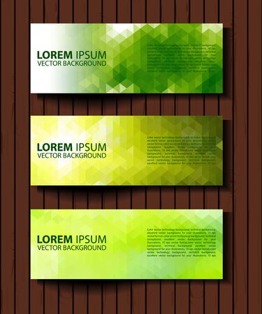 vector banners or headers: eco set of headers with four different style. set of green environmental vector banners