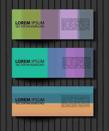 textural: Vector textural banners in grunge style. Eps 10. set of color vector rectangular banners