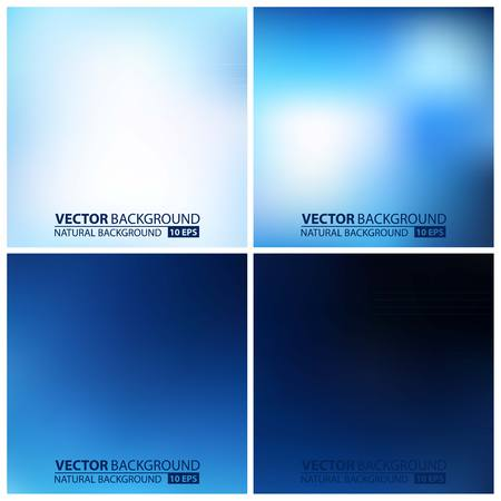Smooth colorful backgrounds collection with aged effect - eps10. set of blue vector backgrounds