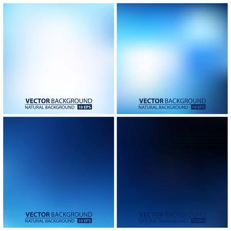 à blue: Suave Colección de fondos coloridos con efecto envejecido - eps10. conjunto de azules vector backgrounds Vectores