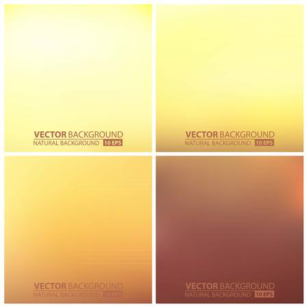 Abstract smooth, blurred vector backgrounds set. set of beige vector backgrounds