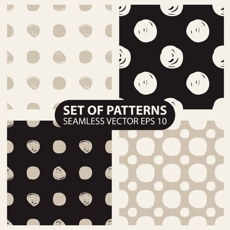 whote: set of seamless knitted patterns graphics.    Illustration
