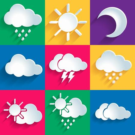 windsock: Set of 9 high quality vector weather icons.