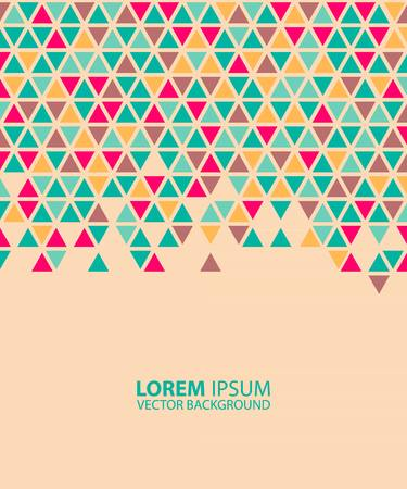 title page: Abstract geometric background. abstract technological pattern of colored triangles