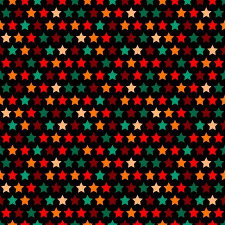 naadloos sterrenpatroon in retro kleur. 10 eps