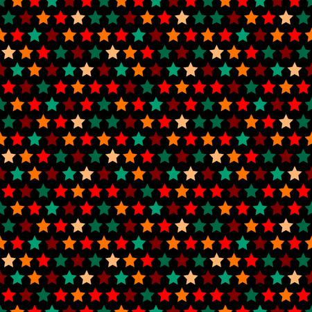 seamless stars pattern in retro color. 10 eps