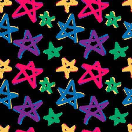 seamless stars pattern in retro color. 10 eps Vector