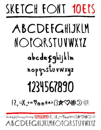 English handwriting alphabet. figures. vector 10 eps