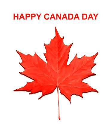canadian flag: Happy Canada Day card in vector format.