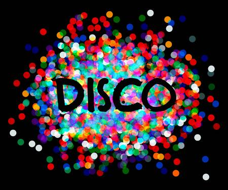 musik: Disco party poster. musik disco vector.