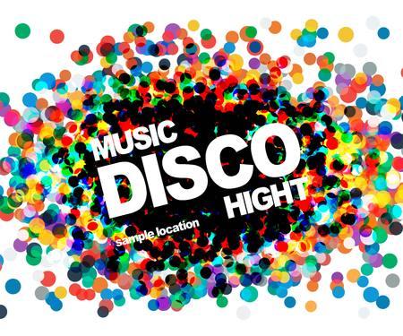 Disco party poster. musik disco vector.