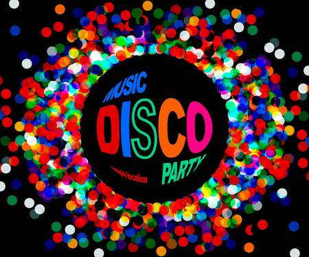 fire place: Disco party poster. musik disco vector. 10 eps