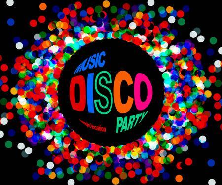 musik: Disco party poster. musik disco vector. 10 eps